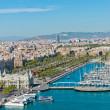 Aerial view of the Harbor district in Barcelona, Spain — ストック写真