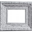 Vintage silver frame, isolated on white — Stock fotografie