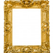 Vintage gold frame, isolated on white — Stock Photo #22561741