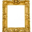 Vintage gold frame, isolated on white — Fotografia Stock  #22561741