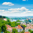 View of Prague city from hill — Foto Stock
