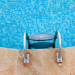 Stock Photo: Close up of swimming pool in summer