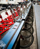 Parking of bicycles for hire — Fotografia Stock