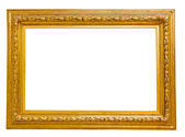 Vintage gold frame, isolated on white — Stock Photo