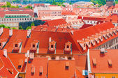 View of Prague city from hill — Stock Photo