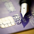 Credit card and pen — Stock Photo #22850730
