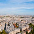 Aerial panoramic view of Paris and Seine river as seen from Eiff — Stock Photo #22851060