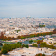 Aerial panoramic view of Paris and Seine river as seen from Eiff — Stock Photo #22851082