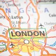 London on a map — Stock Photo #22851432