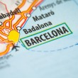 Barcelona on a map - Stock Photo