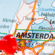 Amsterdam on a map — 图库照片