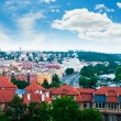 View of Prague city from Vysehrad hill — Foto de Stock