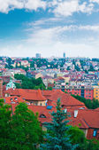 View of Prague city from Vysehrad hill — Stock Photo