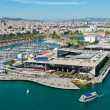 Royalty-Free Stock Photo: Aerial view of the Harbor district in Barcelona, Spain