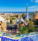 Park Guell in Barcelona, Spain. — Stockfoto