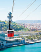 Cablecar over the port in Barcelona, Spain — Stock Photo