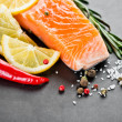 Salmon fillet with lemon  — Foto de Stock