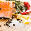 Salmon fillet with rosemary and lemon — Stock Photo #29822541