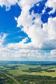 Piękny widok nad ziemią na podróż w dół. — Zdjęcie stockowe