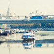 Stock Photo: River motor ship on Moscow-river
