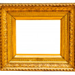 Vintage gold frame, isolated on white — Stockfoto
