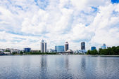 View of quay wharf embankment Yekaterinburg City. — Stock Photo