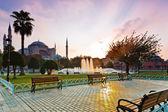 Hagia Sophia at sunrise, Istanbul, Turkey — Stock Photo