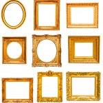 Set of golden vintage frame — Stock Photo #34306451
