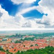 Colorful landscape of Prague (Praha) — Foto de Stock