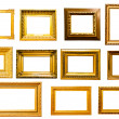 Set of golden vintage frame — Stock Photo