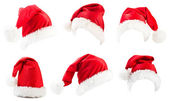 Set of red Santa Claus hats — Φωτογραφία Αρχείου