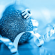 Blue christmas balls — Stock Photo #35783971
