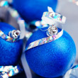 Blue christmas balls — Stock Photo #35784023