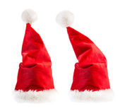 Santa Claus red hats — Foto Stock