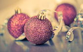 Red christmas balls — Foto Stock