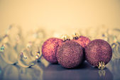 Red christmas balls — Photo