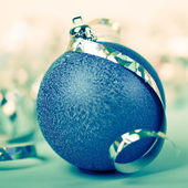 Blue christmas ball — ストック写真