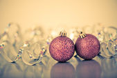Red christmas balls — Stockfoto
