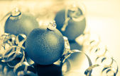 Blue christmas balls — Foto de Stock
