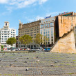 Placa de Catalynia. (Square of Catalonia) Barcelona on September — Stock Photo