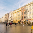 Street in historical center of Krakow — Stock Photo