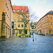 Street of Nuremberg . Bavaria, Germany. — Stok fotoğraf