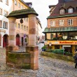 Street of Nuremberg. Bavaria, Germany. — Stock Photo