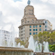 Fountain in placa de Catalunya — Stock Photo