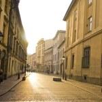 Street in historical center of Krakow — Stock Photo
