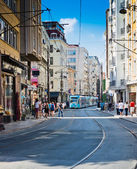 People are in downtown of Istanbul — Stok fotoğraf