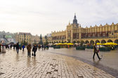 Main Market Square in Krakow, Poland — Foto Stock