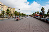 Street in port Vell , Barcelona — Stockfoto