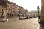 Street in historical center of Krakow — Stockfoto