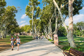 People in park in the Topkapi Palace — Stock Photo